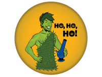 "SWAG Button - 1.25"" With Rotating Pin - Ho Ho Ho Green Giant 2168"