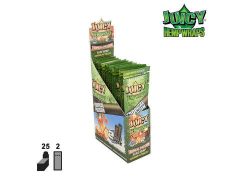 Juicy (Juicy Jays) Hemp Wraps - Tropical Passion 2/pack 25/box