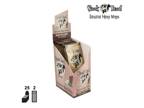 Skunk Genuine Hemp Wraps - 2/pack 25/box