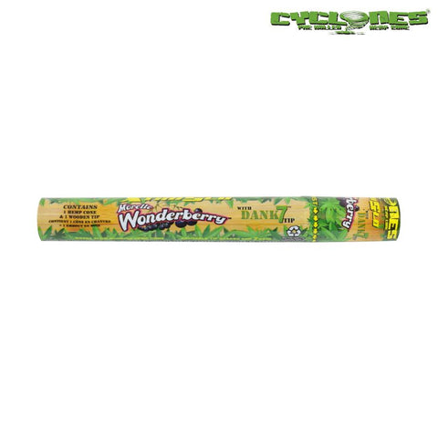 Cyclones Hemp Wraps Pre-Rolled Cones - Wonderberry 1/pack