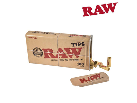 RAW Tips Pre-Rolled 100/pack In An Awesome Tin 22160