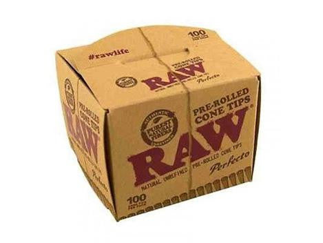 RAW Tips Pre-Rolled Perfecto Cone 100 PACK 6 BOX