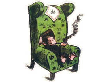 SWAG Sticker - Curious George Pipe Chair