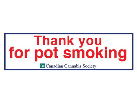 SWAG Sticker - Thank You For Pot Smoking