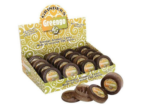 Greengo Grinder EcoPlastic Clear 3-piece (with Storage) 16/box