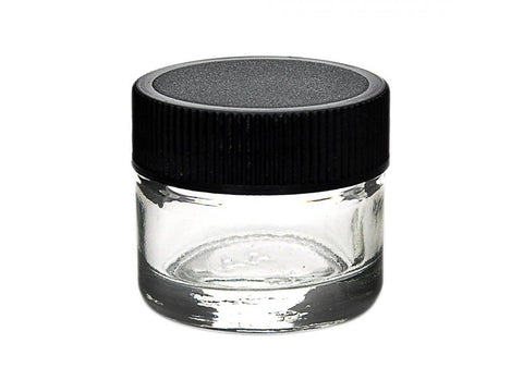 NoName Glass Jar WideMouth w/ Black Plastic Screw-Top Lid 1 Single
