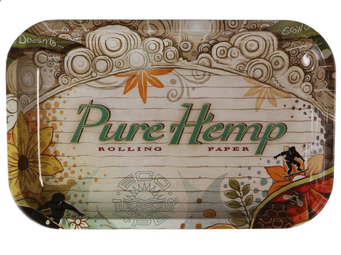 "Pure Hemp Rolling Tray Metal 6x10"" Small"