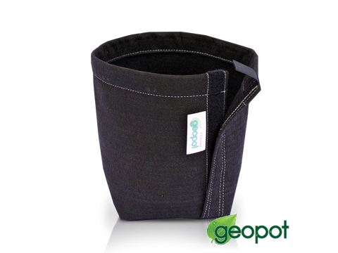 GeoPot Fabric Plant Container Pot - 3 Gallon Black Self-Supporting w/ Velcro 23037