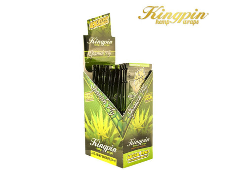 KingPin Hemp Wraps Blunt Wrap Spanish Fly Flavor 4/pack 25/box
