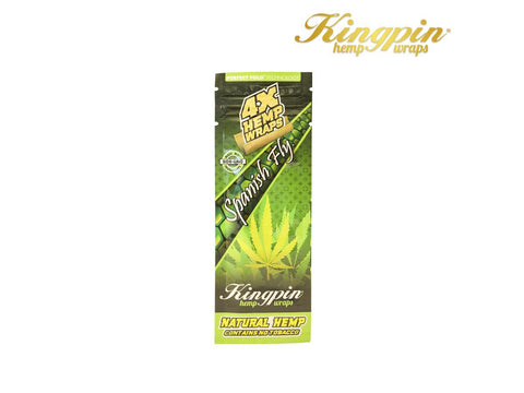 KingPin Hemp Wraps Blunt Wrap Spanish Fly Flavor 4/pack