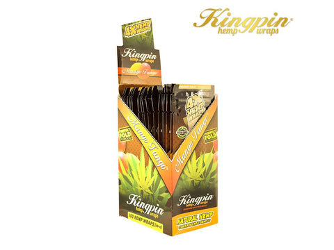KingPin Hemp Wraps Blunt Wrap Mango Tango Flavor 4/pack 25/box