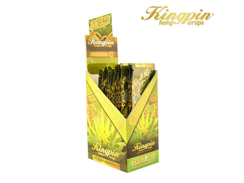 "KingPin Hemp Wraps Blunt Wrap ""Original G"" Natural Flavor 4/pack 25/box"