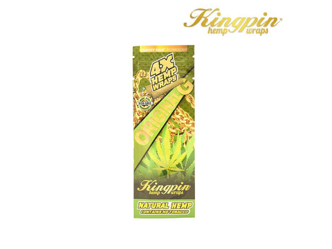 "KingPin Hemp Wraps Blunt Wrap ""Original G"" Natural Flavor 4/pack"