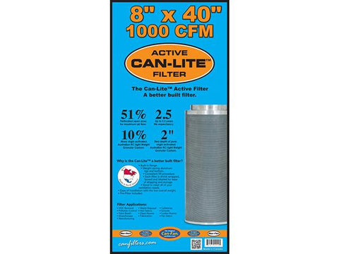 "CAN Filter CAN-Lite 8"" x 40"" 1000CFM Activated Charcoal / Carbon Exhaust / Scrubber"
