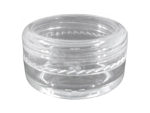 NoName Plastic Jar Polystyrene Clear Concentrate Container  5ml 1000/case