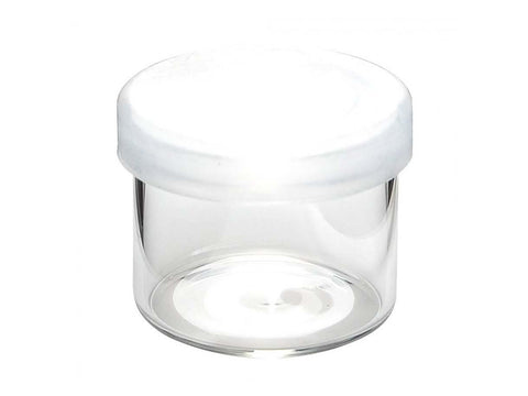 NoName Glass Jar WideMouth w/ Plastic Air-Tight Pop-Top Lid 6ml 144/pack