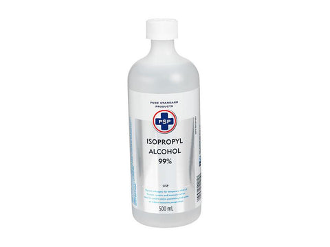 PSP Isopropyl 99% Rubbing Alcohol Cleaning Liquid 500ml Bottle