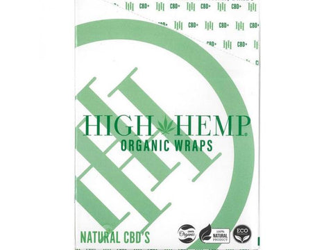 High Hemp 100% Organic Hemp Wrap Grape Ape Flavor 2/pack W/Tips 25/box 24613