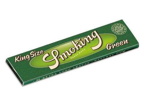 Smoking Green Pure Hemp King Size 33/pack 50/box