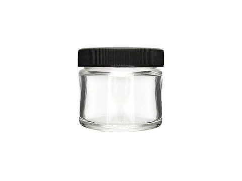 NoName Glass Jar 2oz Black Top 240/case 24775