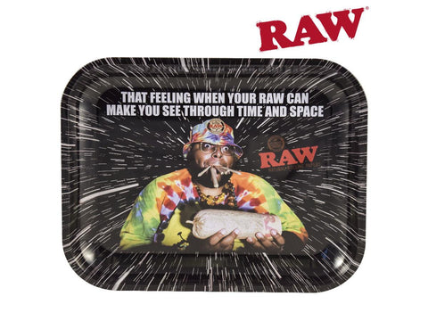 RAW Metal Rolling Tray - Large 34x26.5cm OOPS Design 24876