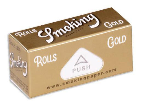 Smoking Gold Papers on a Roll 52mm x 4m