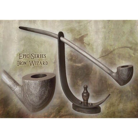 MacQueen Wood Pipe - Wizard Iron (Silver)