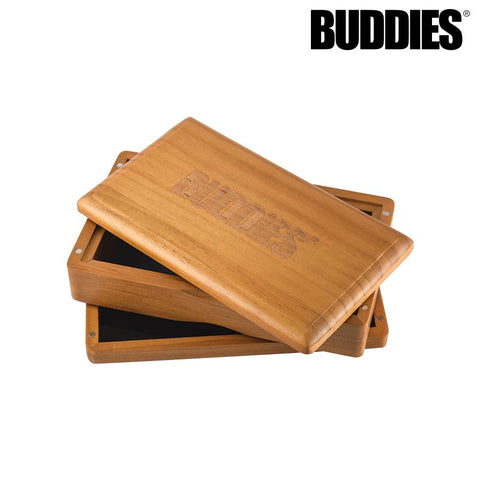 "Buddies Shaker / Sifter / Storage Box Magnetic Solid Top 4x6"" Medium Pine Stained"