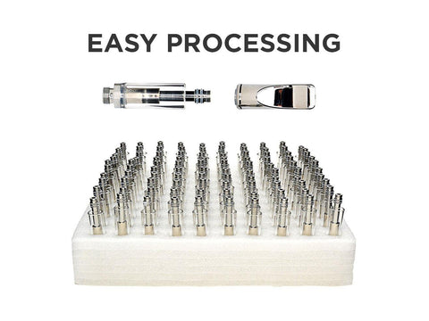 NoName Buttonless Vaporizer - Pen Atomizer Cartridge - Glass & Metal 1ml 100/pack