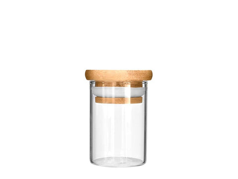 NoName Glass Jar Wood Top Air-Tight Smell-Proof Seal 2oz 200/case 25068