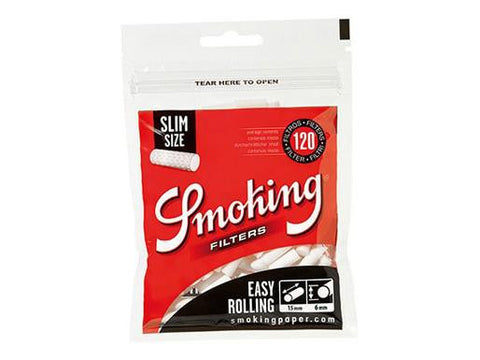 Smoking Filters Slim Easy Rolling Black 120/pack 30/box