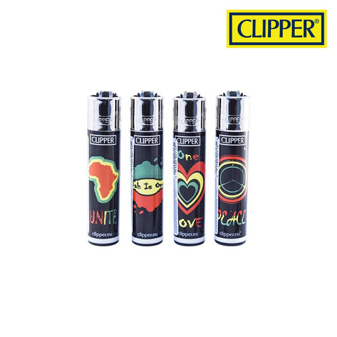 Clipper Lighter Regular Size Africa K492 w/ Removable / Replaceable Flint / Poker 48/pack