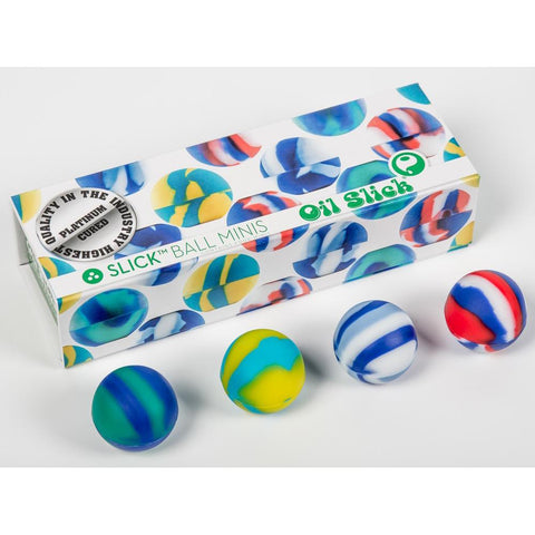 Oil Slick Slick Ball Mini Silicone Non-stick Concentrate Containers 4/pack