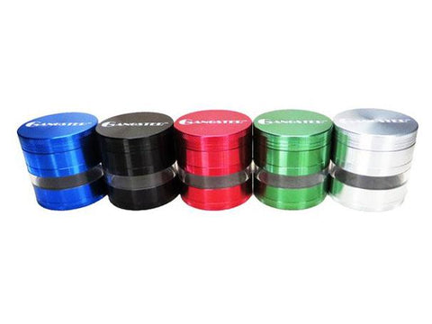Gangster Glass Grinder Aluminum 4-piece Clear Window 63mm Choice of Colors