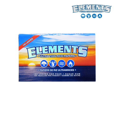 Elements Ultra Thin Rice Papers - Single Wide Double Window - 100/pack