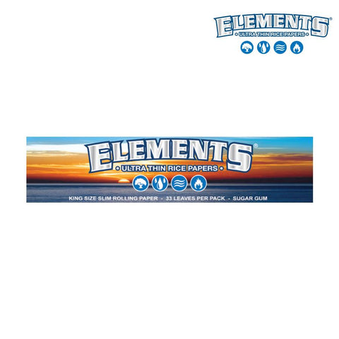 Elements Ultra Thin Rice Papers - King Size Slim