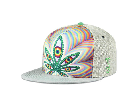 Grassroots California Hat - SnapBack Alex Grey Higher Vision 2017 Tan Choice of Sizes