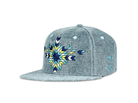Grassroots California Hat - SnapBack Conscious Alliance 2017 Blue Burst Choice of Sizes