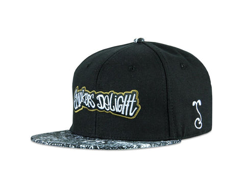 Grassroots California Hat - SnapBack Nighmares on Wax Smoker's Delight Black Choice of Sizes