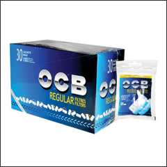 OCB Filter Tips Regular Blue 100/pack bag