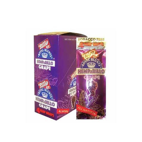 Royal Blunt Tobacco-Free Wraps Grape 4/pack 15/box