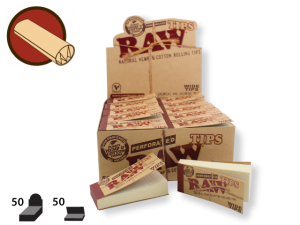 RAW Tips Wide Perforated 50/pack 50/box