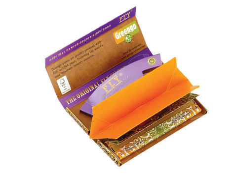 "Greengo Rolling Papers ""The Natural"" KingSize Slim FLY Purple Silk Collab Festival Pack"