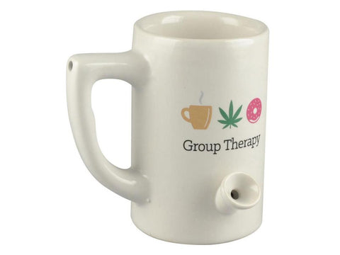 Wake & Bake Coffee Co. Ceramic Pipe Mug - 8oz Group Therapy