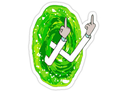 Rick & Morty Portal Fingers Sticker by Cycle Stickers