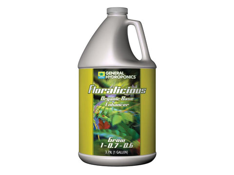 General Hydroponics Nutrient / Additive - Floralicious Grow  4L (1Gal)