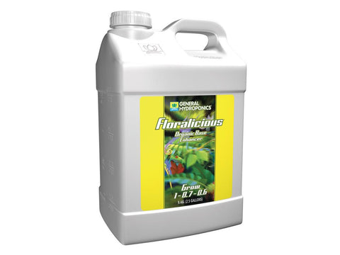 General Hydroponics Nutrient / Additive - Floralicious Grow 10L (2.5Gal)