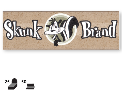 Skunk Brand Rolling Papers - 1-1/4 Size - Genuine Hemp 50/pack 25/box
