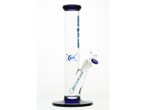 "Nice Glass WaterPipe - Straight 12"" 5mm 14mm Bowl Choice of Colors 240-5"