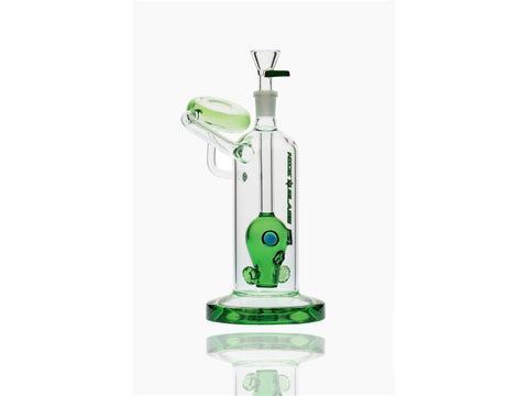 Nice Glass WaterPipe - Bubbler Gas Mask w/ Disc Mouthpiece N8005